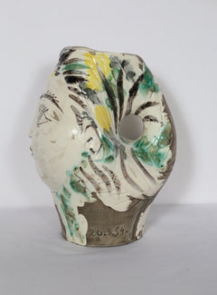 Pablo Picasso, Woman's Head, Crowned with Flowers (Ramie 237) Ceramic - RoGallery
