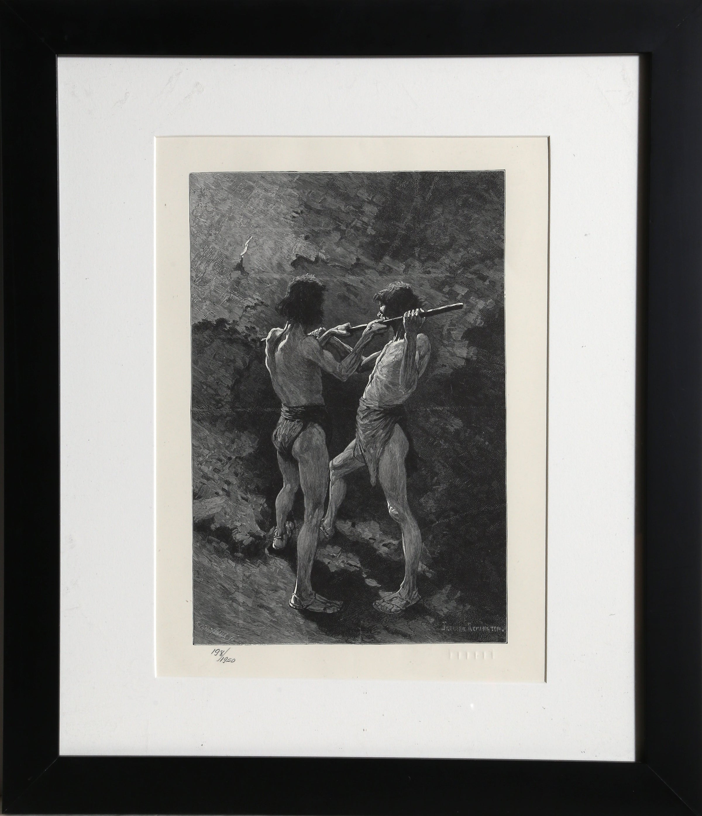 Frederic Remington, Mexican Miners Lithograph - RoGallery