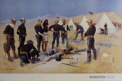 Frederic Remington, The Christmas Beef in a Cavalry Camp Poster - RoGallery