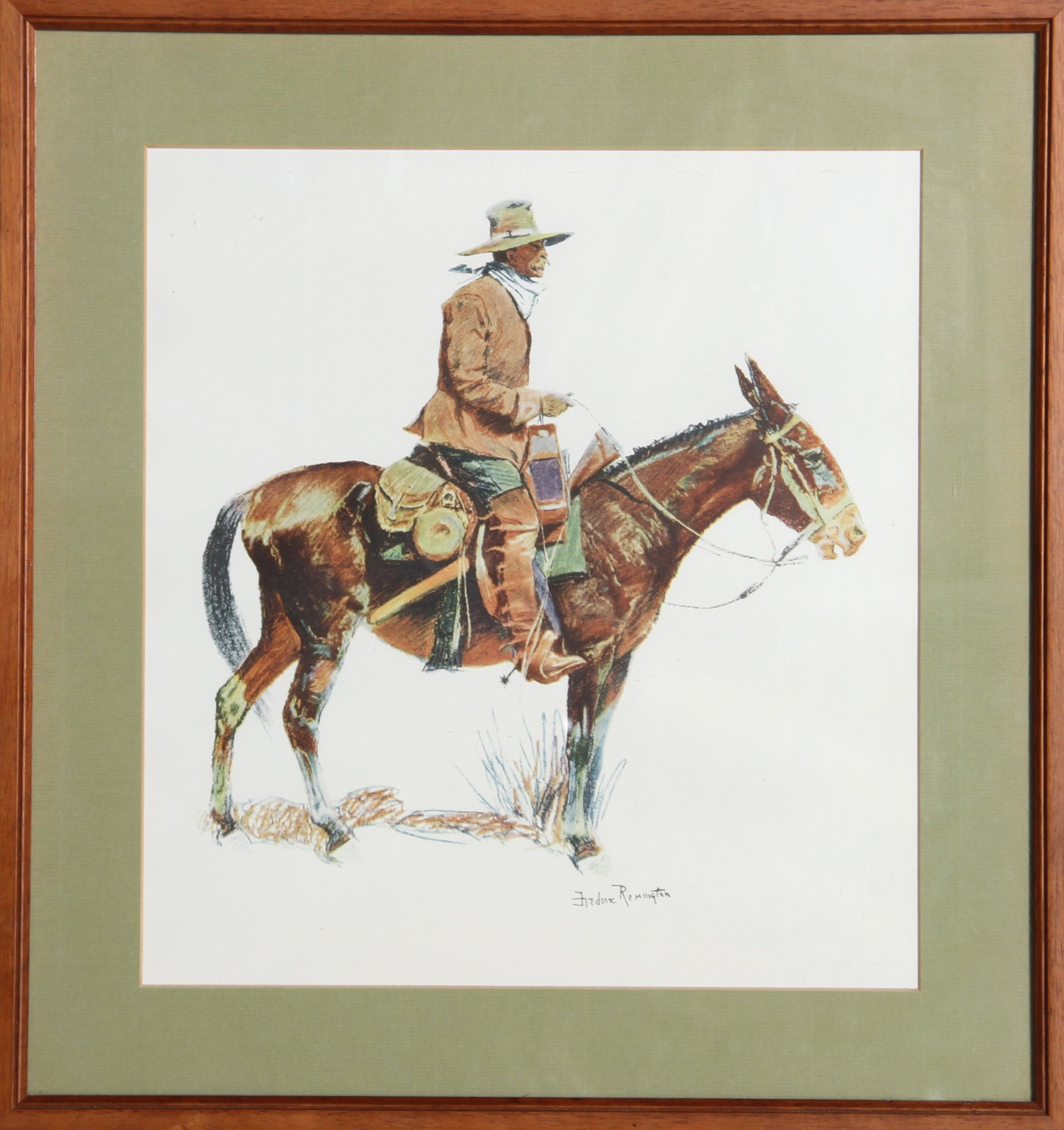 Frederic Remington, Cowboy on Horse Poster - RoGallery
