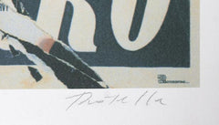 Mimmo Rotella, Made to Order Love (Marlene Dietrich) Screenprint - RoGallery