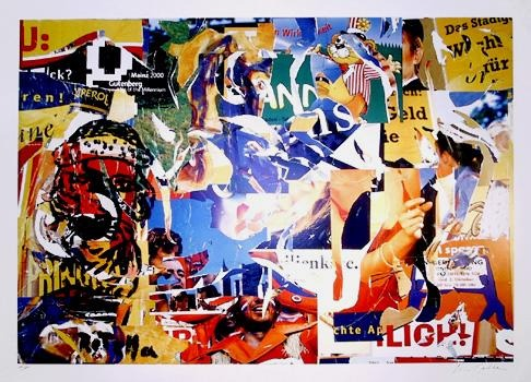Mimmo Rotella, Gutenberg 2000 Lithograph - RoGallery