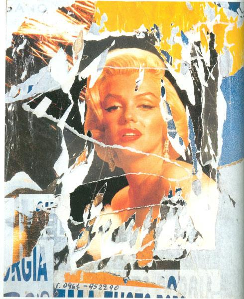 Mimmo Rotella, Omaggio a Marilyn (A Tribute to Marilyn) #3 Screenprint - RoGallery