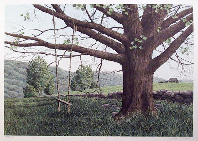 Helen Rundell, New Hampshire Green Lithograph - RoGallery