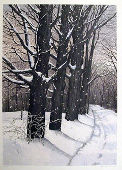 Helen Rundell, Country Lane Lithograph - RoGallery
