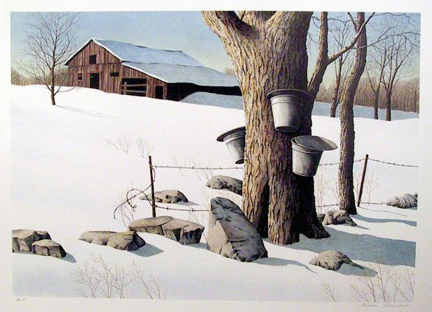 Helen Rundell, Sugaring Off Lithograph - RoGallery