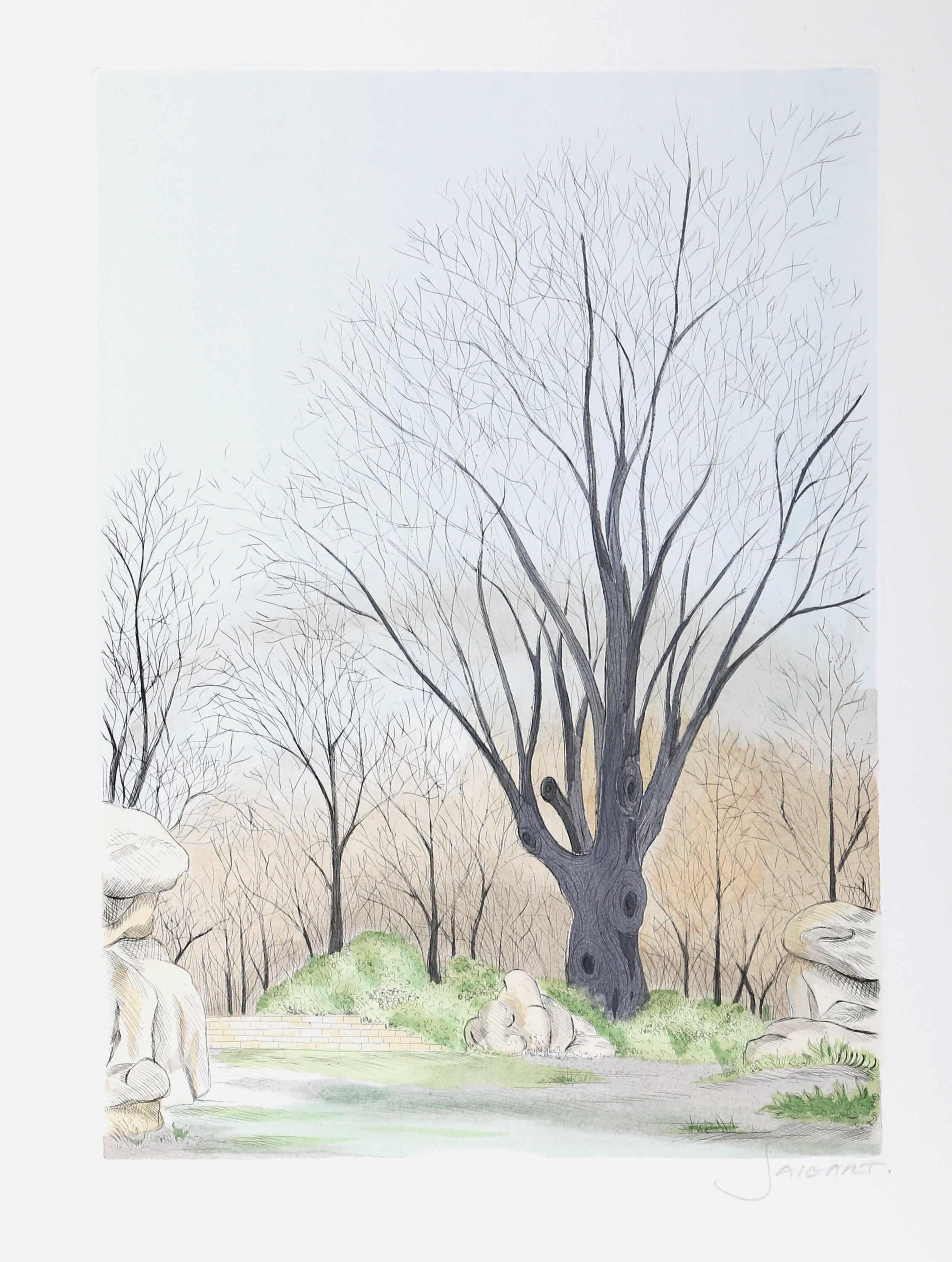 Francis Saillart, Paysage aux Arbres Etching - RoGallery