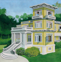 Emilio Sanchez, La Mansion en Mantanzas Oil - RoGallery