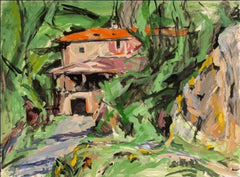 Alfred Sandford, House with Orange Roof Acrylic - RoGallery