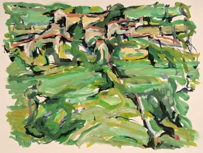 Alfred Sandford, Village on the Hillside No. 1 Acrylic - RoGallery
