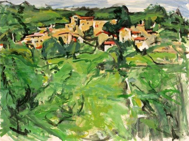 Alfred Sandford, Village on the Hillside No. 3 Acrylic - RoGallery