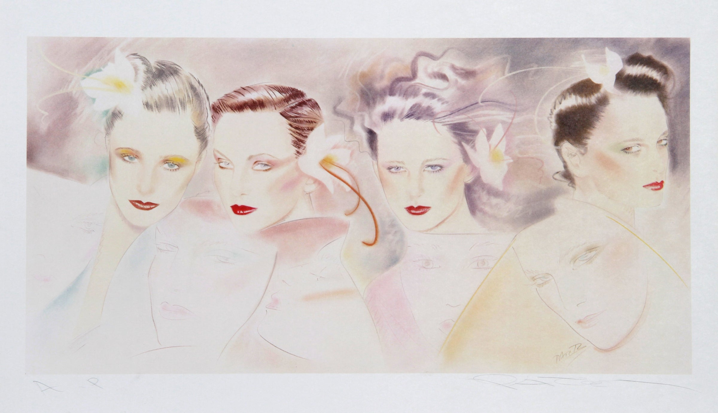 Pater Sato, Faces Lithograph - RoGallery