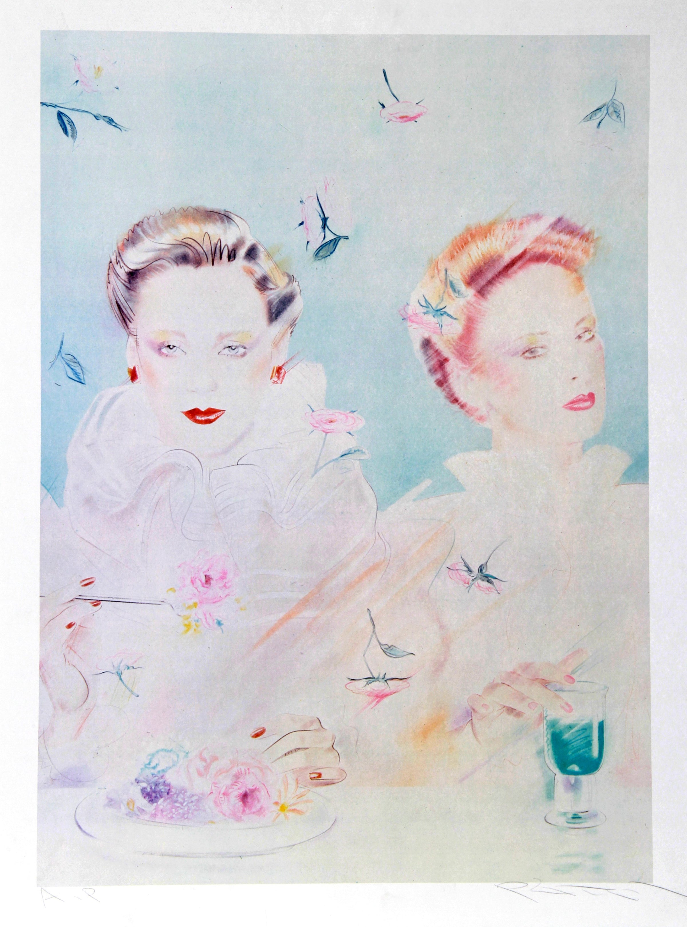 Pater Sato, Tea for Two Lithograph - RoGallery
