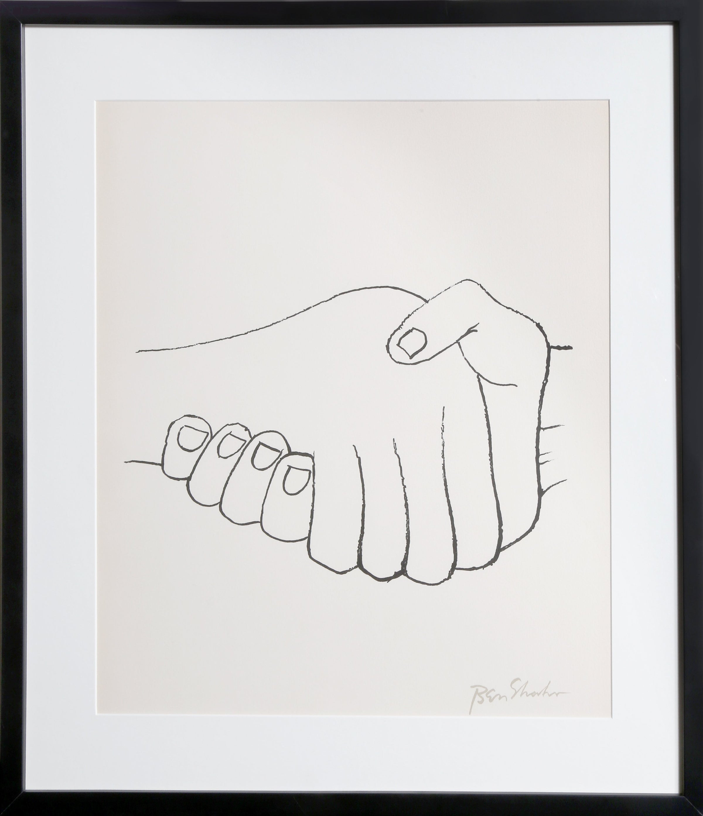 Ben Shahn, Unexpected Meetings from the Rilke Portfolio Lithograph - RoGallery