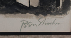 Ben Shahn, To Roads in Unknown Regions from the Rilke portfolio Lithograph - RoGallery