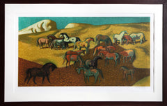 Millard Owen Sheets, Brood Mare Pasture Lithograph - RoGallery