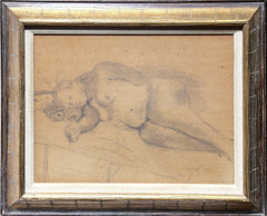 Raphael Soyer, Reclining Nude I Pencil - RoGallery