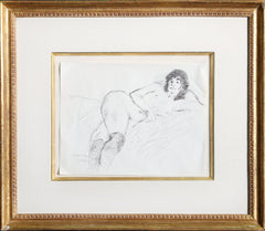 Raphael Soyer, Untitled - Nude Study I Ink - RoGallery