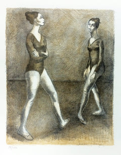 Isaac Soyer, Two Ballerinas Lithograph - RoGallery