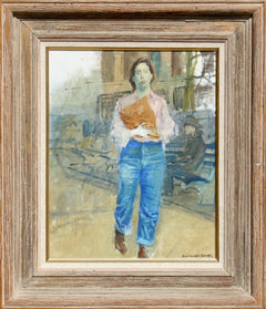 Raphael Soyer, Woman on Street Oil - RoGallery