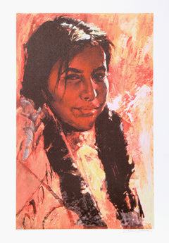 Shannon Stirnweis, Young Girl with Otter Tail Braids Lithograph - RoGallery