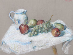 Thomas Strickland, Still Life with Fruit and Pitcher Pastel - RoGallery