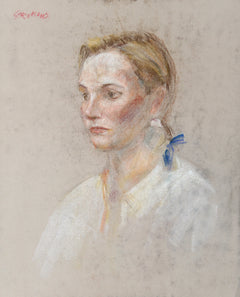 Thomas Strickland, Portrait of a Blonde Young Woman Pastel - RoGallery