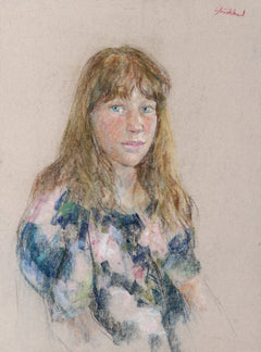 Thomas Strickland, Portrait of a Girl with Bangs Pastel - RoGallery