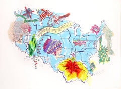 Marjorie Strider, America the Beautiful Mixed Media - RoGallery