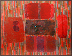 Dan Teis, Red Abstract Acrylic - RoGallery