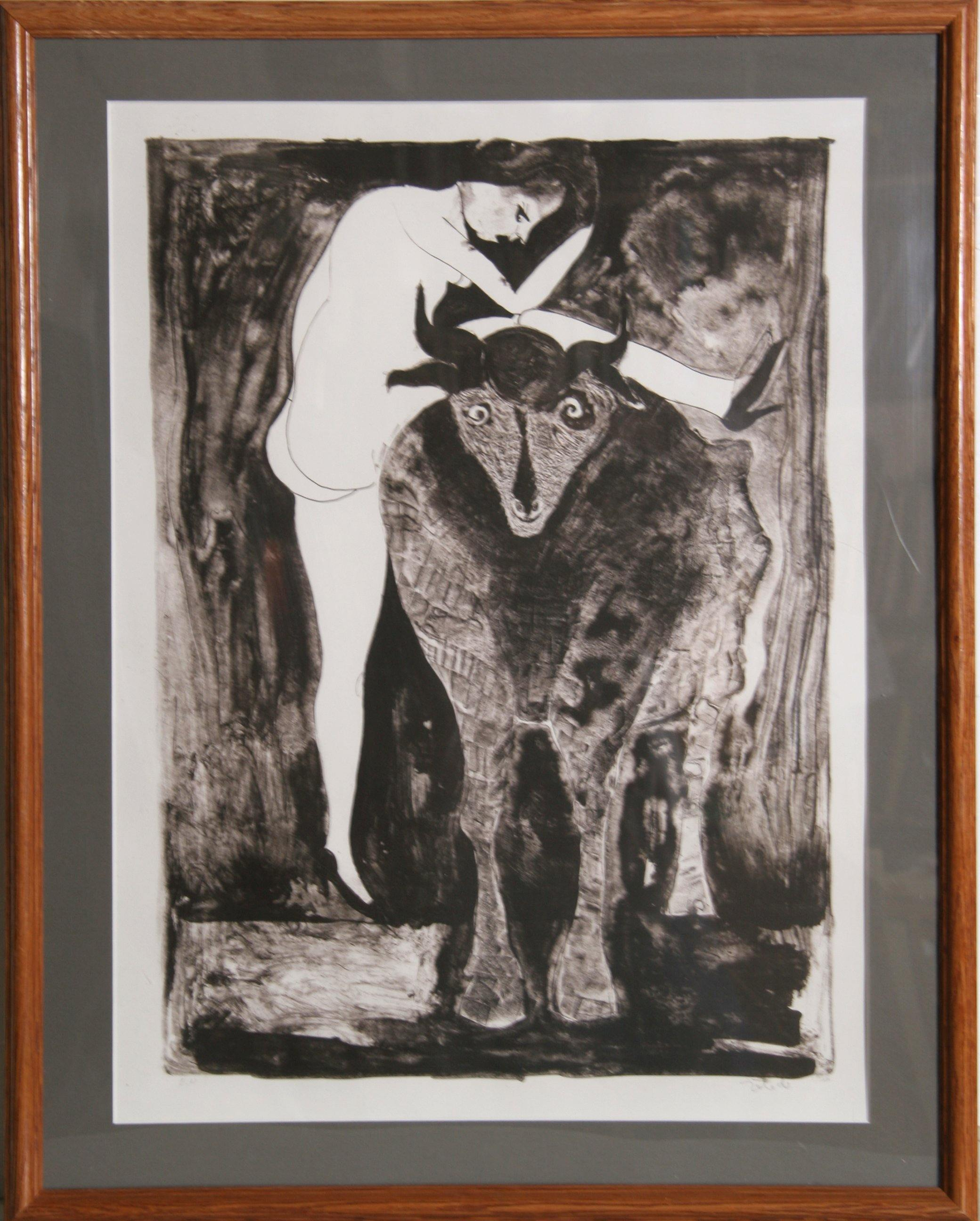 Francisco Toledo, Woman with Goat Lithograph - RoGallery