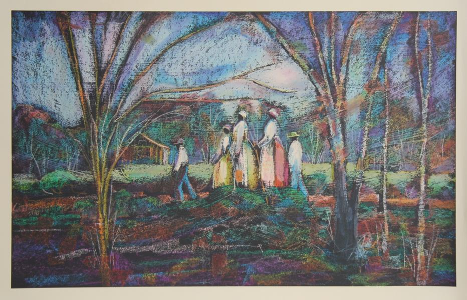 William Tolliver, Going to Church Screenprint - RoGallery