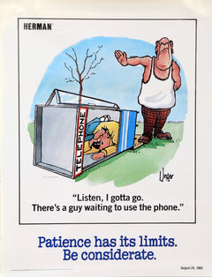 Jim Unger, Herman - Patience has its Limits - Be Considerate Poster - RoGallery