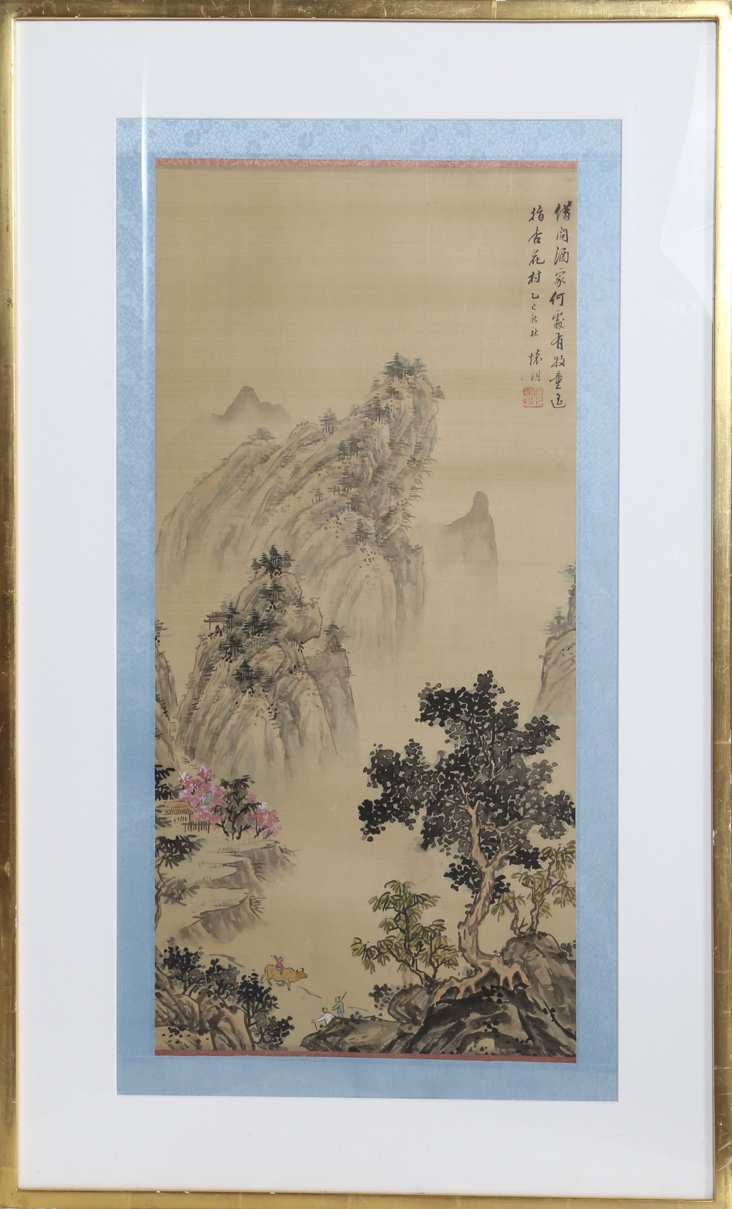 Unknown, Chinese, Spring Mountain Landscape with Ox Tapestries and Textiles - RoGallery