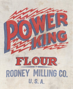 Unknown Artist, Power King Flour, Rodney Milling Co. Antiques - RoGallery