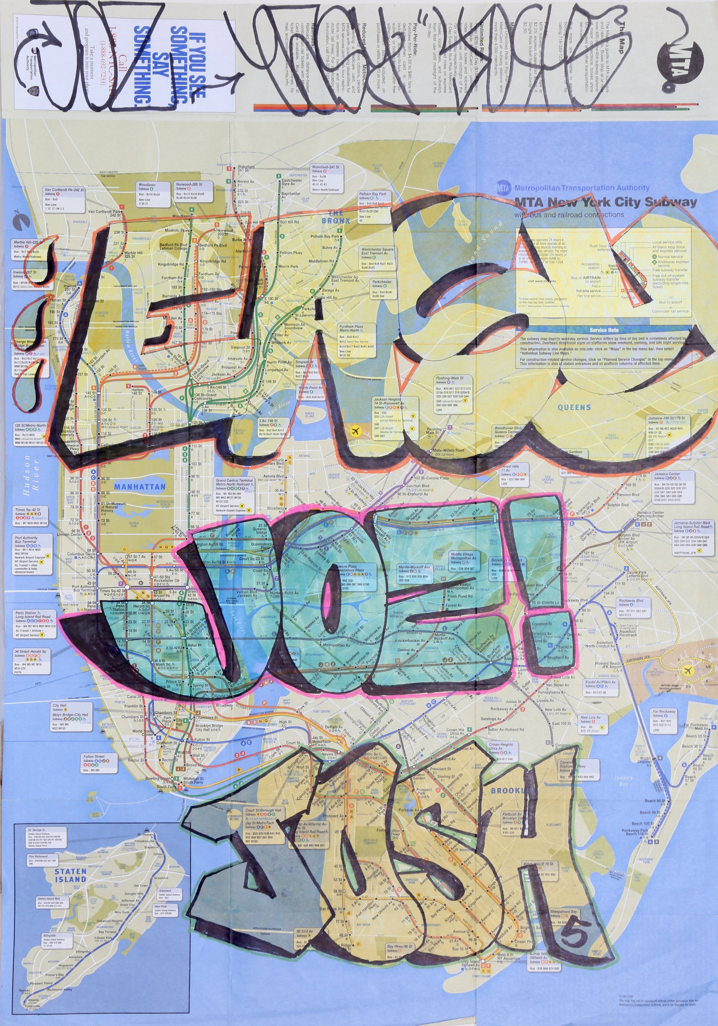 NYC GRAFFITI SUBWAY MAP