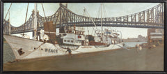 William Waithe, Peace Boat Under the Queensboro Bridge Oil - RoGallery