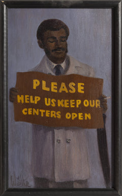 William Waithe, Please Keep Our Centers Open Oil - RoGallery