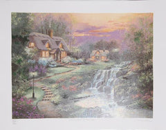 Andrew Warden, Waterfall Cottage Screenprint - RoGallery