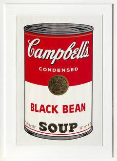 Andy Warhol, Black Bean from Campbell's Soup I (FS.II.44) Screenprint - RoGallery
