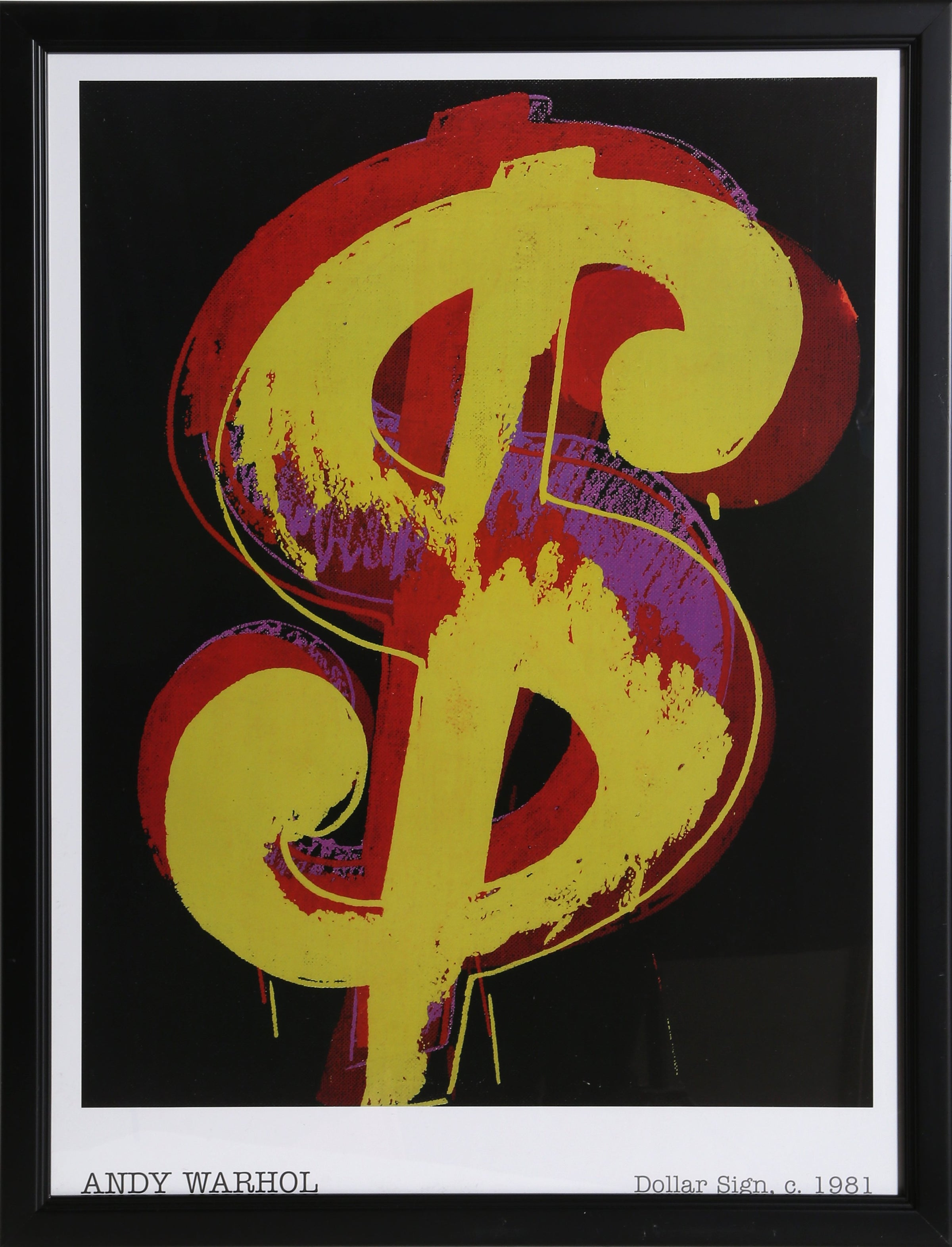 Andy Warhol, Dollar Sign Poster - RoGallery