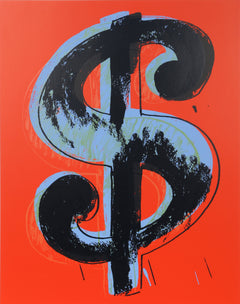 Andy Warhol, Dollar Sign (Red) Screenprint - RoGallery