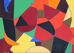 Arnold Weber, Colorful Abstract Oil - RoGallery