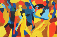 Arnold Weber, Dancing Female Figures Oil - RoGallery