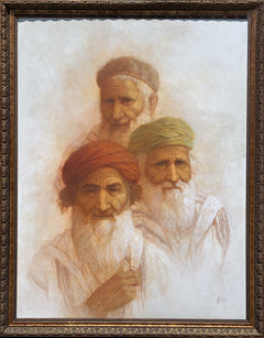 William Weintraub, Three Elders Oil - RoGallery