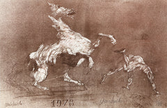 Claude Weisbuch, Rider thrown from Horse Lithograph - RoGallery