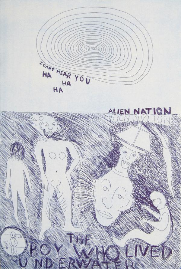Robin Winters, Alien Nation from the Moral Essays Portfolio Etching - RoGallery