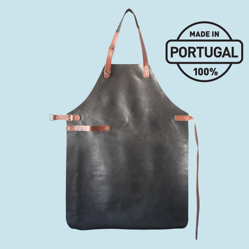 Delantal de cuero Yako & Co - Negro Original