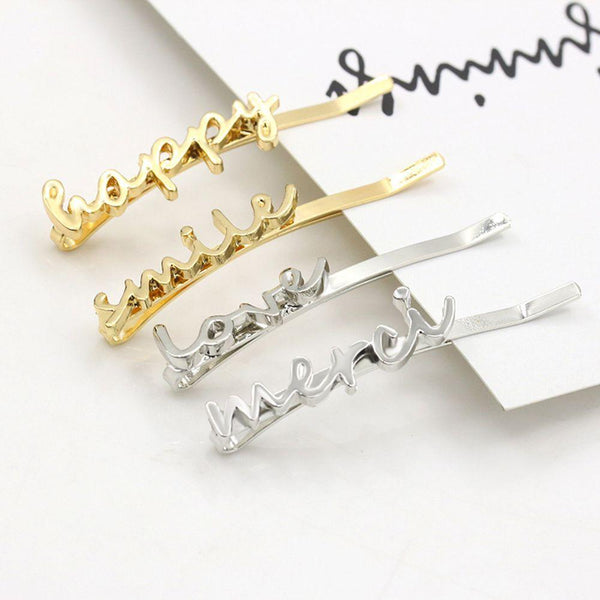 Letter Hairclips