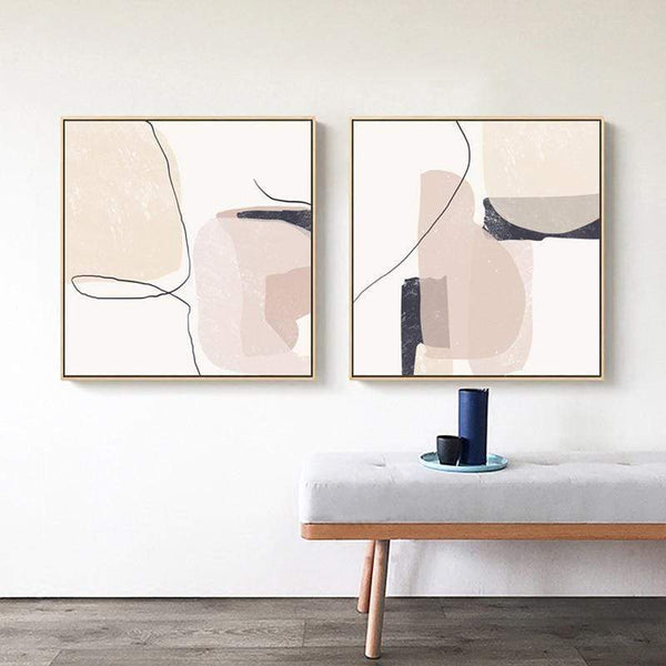Modern Geometric Canvas